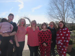 Crazy Staff getting involved in the RED NOSE DAY fun!! Middle Nursery