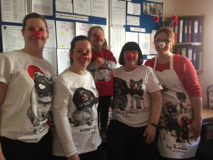 Crazy Staff getting involved in the RED NOSE DAY fun!! Pre-school & Office