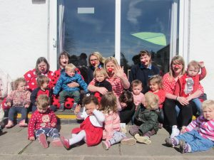 Red nose day fun with Middle Nursery
