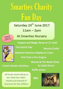 Smarties Charity Fun Day Saturday 24th June 2017